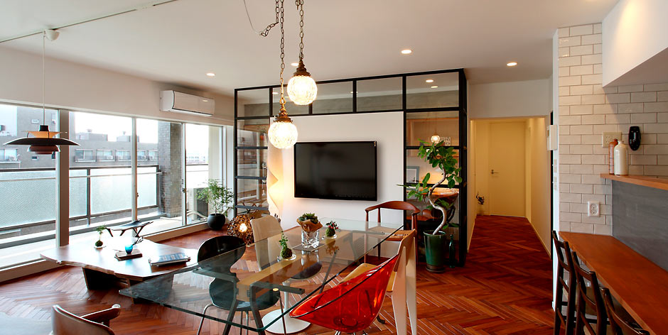 築45年のヴィンテージマンションをフルリノベーション。徹底的にこだわりを追求した、理想の住まいが実現しました。