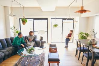 ゆとりを楽しむオープンキッチンの家