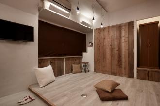 足場板再利用と収納アイデアでお気に入りの一室に