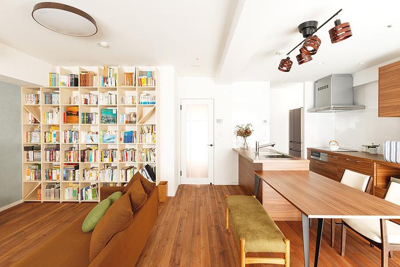 蔵書が多いH様。大きな本棚を置くことを想定し、プランニングしました。