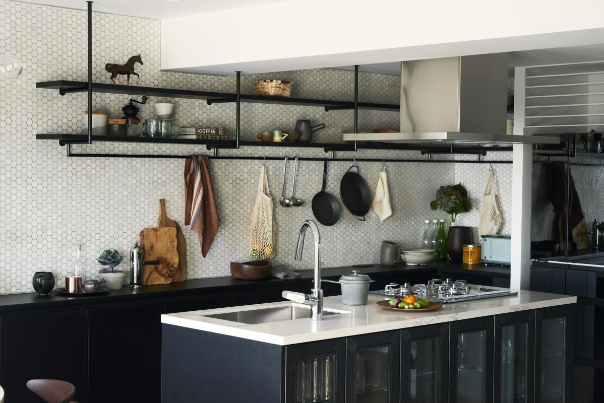 人気のアイランドキッチン採用